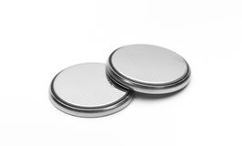Round Lithium Batteries Stock Photos