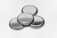 Round Lithium Batteries Stock Image