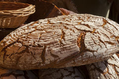 Round loaf of bread. Stock Photo