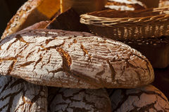 Round loaf of bread. Royalty Free Stock Photo