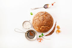 Round loaf of fresh bread Royalty Free Stock Images
