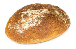 Round loaf made of wheat and rye flour Royalty Free Stock Photo