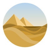 Round Location With Egyptian Desert Royalty Free Stock Photography