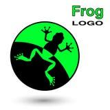 Round logo z żabą Obraz Royalty Free