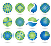 Round logos. To go with your company name stock illustration