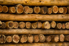 Round logs large diameter Stock Photos
