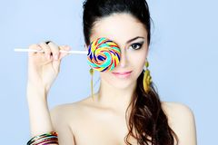 Round lollipop royalty free stock photos