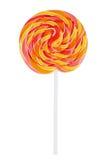 Round lollipop on a white background Royalty Free Stock Photos