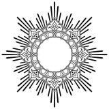 Round lotus calligraphic border Stock Photography