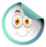 Round majcher z szczęśliwą twarzą Obraz Stock