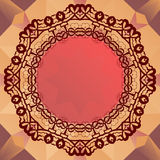 Round mandala frame for text, oriental design Stock Photography