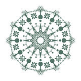 Round mandala. Green floral pattern, Royalty Free Stock Photography