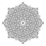 Round mandala kaleidoscopic lace ornament Stock Photo