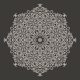 Round mandala kaleidoscopic lace ornament Stock Photos