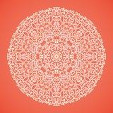 Round mandala lace ornamental background Royalty Free Stock Image