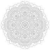 Round mandala projekt dla dorosłej kolorystyki książki Zdjęcie Royalty Free