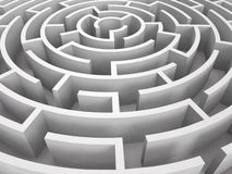 Round maze. 3D rendered image of round maze royalty free illustration