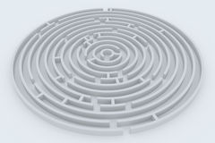 Round maze Royalty Free Stock Images