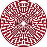 Round maze stock illustration