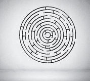 Round maze Stock Photos