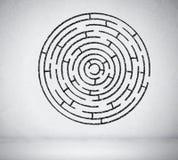 Round maze Stock Photos