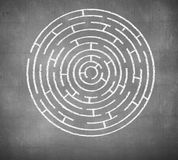 Round maze Royalty Free Stock Image
