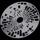 Round maze 3d Stock Photo