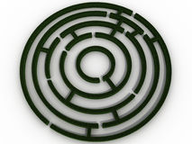 Round a maze of green  №1 Royalty Free Stock Photo