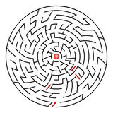 Round maze Royalty Free Stock Photography