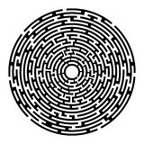 Round  maze  izolated on white Stock Photos