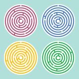 Round maze set Stock Images
