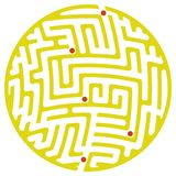 Round maze (Yellow) Stock Photo
