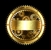 Round Mechanical banner Royalty Free Stock Images