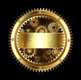Round Mechanical banner vector illustration