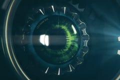 Round mechaniczny oko Obraz Stock