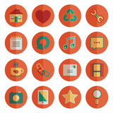Round media icons Royalty Free Stock Photos