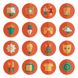 Round media icons Stock Images
