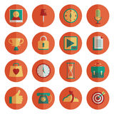 Round media icons Royalty Free Stock Images