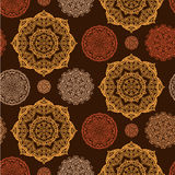 Round mehndi pattern Royalty Free Stock Images