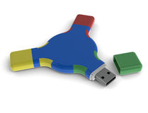 Round memory stick Stock Images