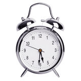 Round metal alarm clock Royalty Free Stock Image