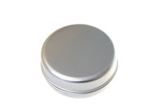 Round metal box Royalty Free Stock Images