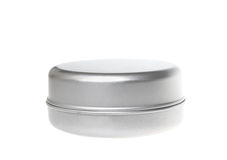 Round metal box Royalty Free Stock Photo