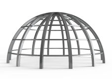 Round metal construction  on white Stock Photography