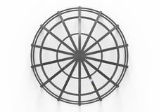 Round metal construction  on white Stock Photos