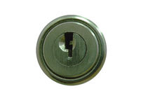 Round metal lock and keyhole Stock Photos