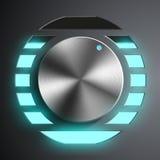 Round metal regulator. Royalty Free Stock Image