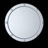 Round metal shield Royalty Free Stock Photography