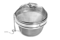 Round metal strainer Royalty Free Stock Photo