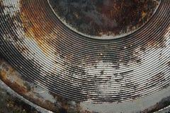Round metallic rusty surface Royalty Free Stock Image